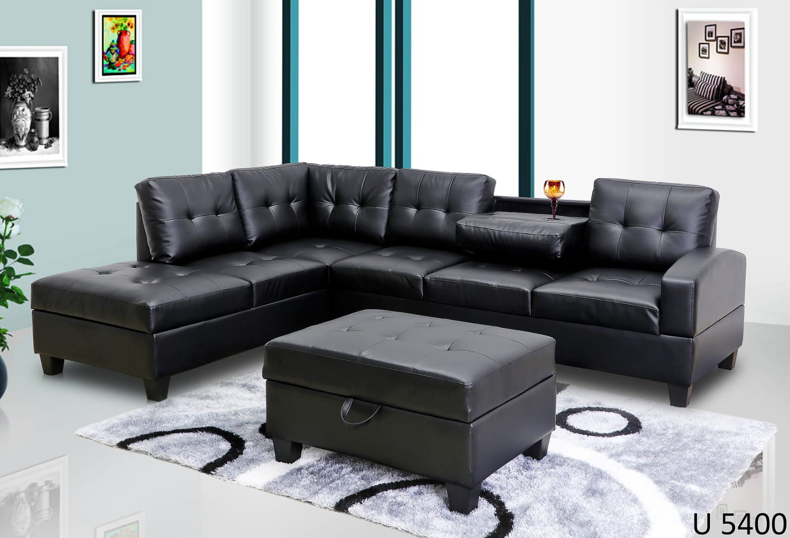 2pc Sectional With Ottoman